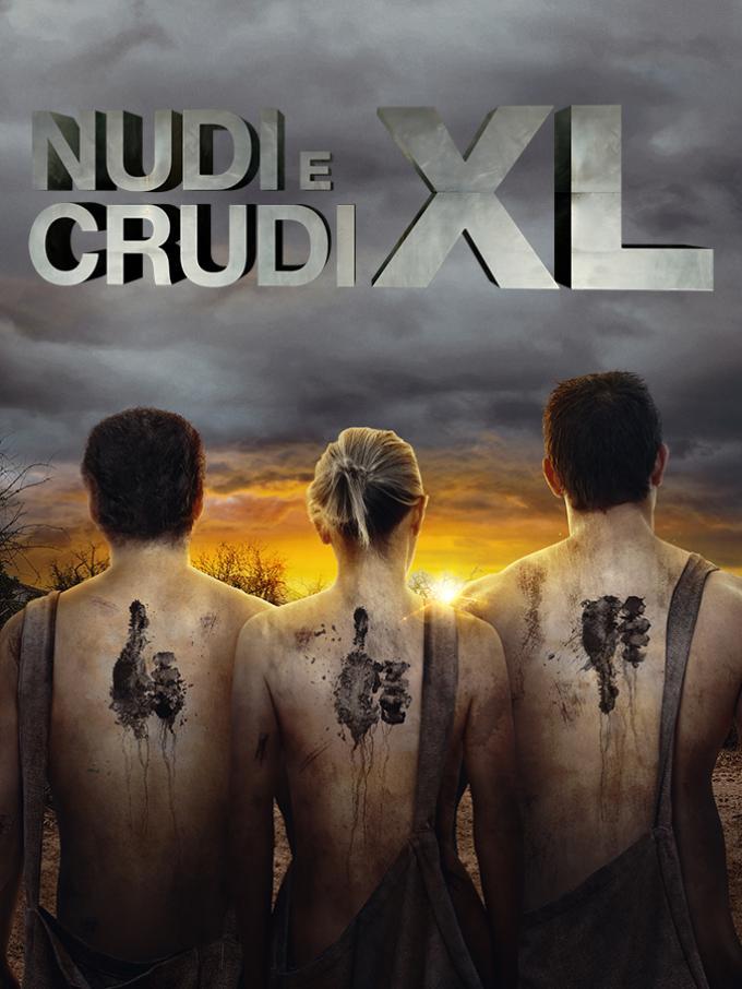 """Nudi e crudi XL - In """"Nudi e crudi XL"""" i dodici migliori esperti di sopravvivenza sono messi a dura prova: riusciranno a vincere una sfida che li vede coinvolti tutti e 12 insieme per 40 giorni?"""